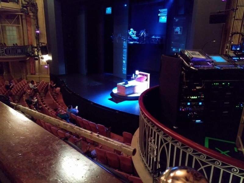 Music Box Theatre, Abschnitt: Mezzanine (MezzPV), Reihe: A, Platz: 26
