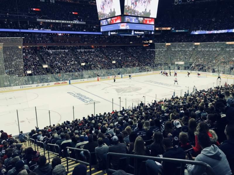 Nationwide Arena, Abschnitt: 106, Reihe: Y, Platz: 1