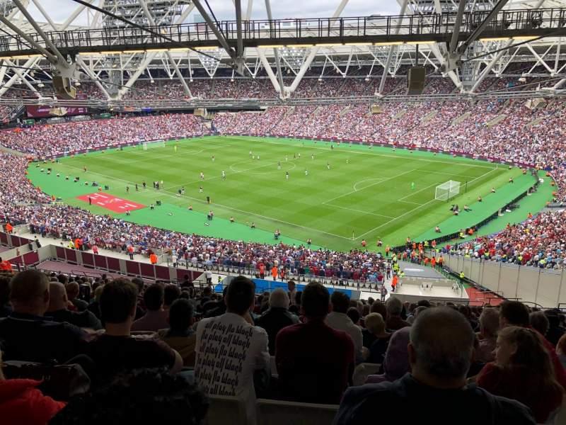London stadium , Abschnitt: 214, Reihe: 70, Platz: 233