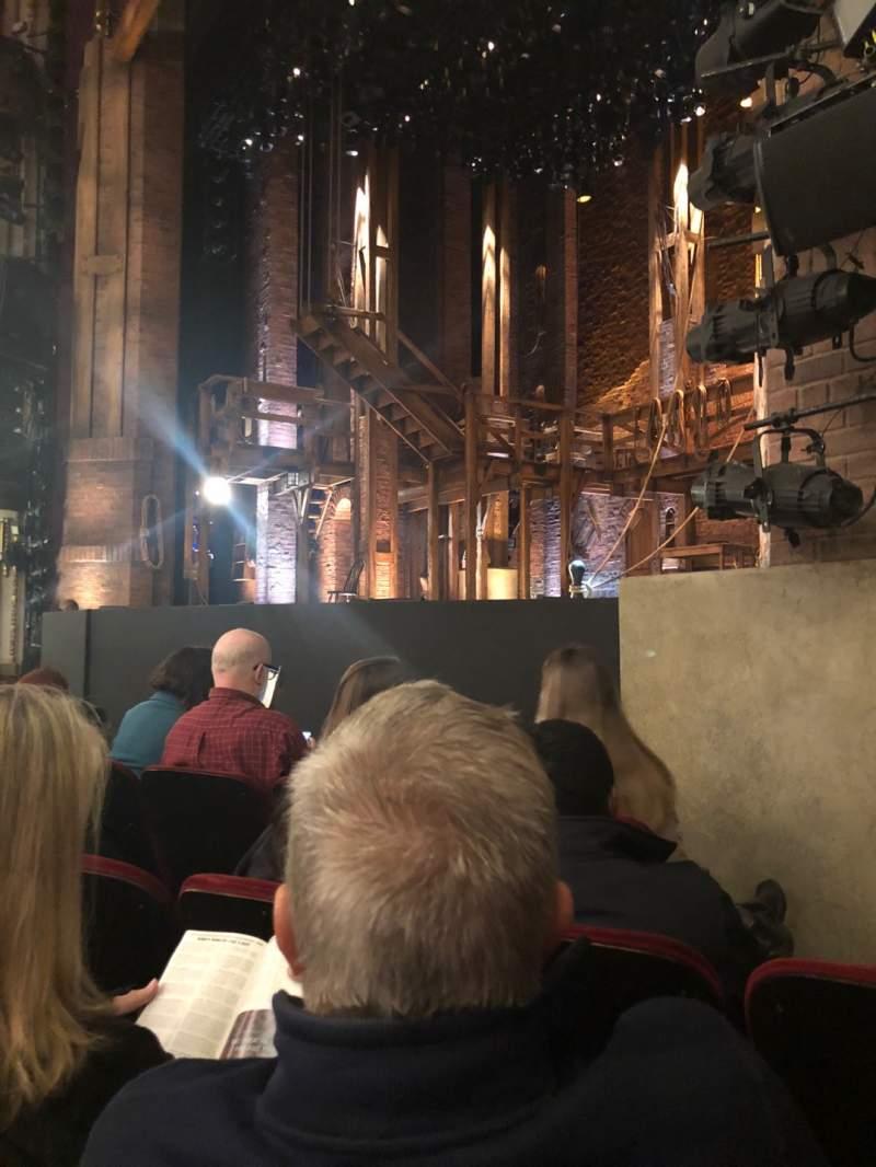 Sitzplatz-Aussicht für CIBC Theatre Abschnitt Orchestra R Reihe 1 Platz 14