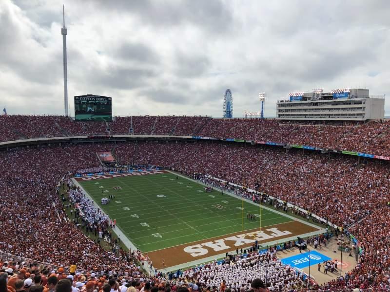 Sitzplatz-Aussicht für Cotton Bowl Abschnitt 120 Reihe 32 Platz 7