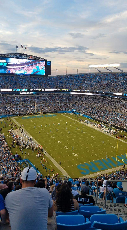 bank of america stadium, abschnitt 533, reihe 24, platz 3