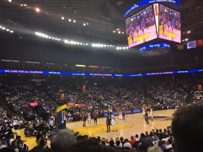 Sitzplatz-Aussicht für Oracle Arena Abschnitt 119 Reihe 7 Platz 5