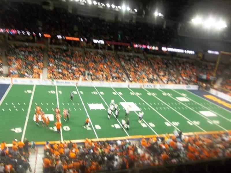Spokane Arena, Abschnitt: 202, Reihe: L, Platz: 18