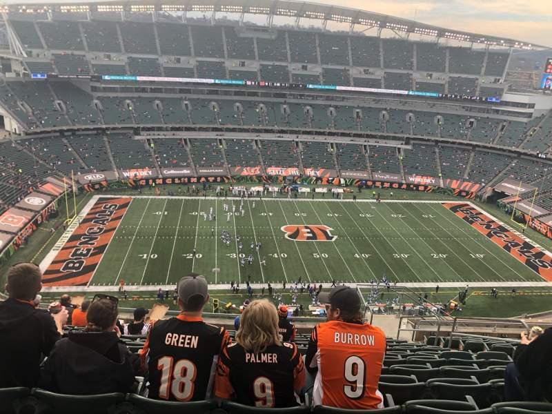 Sitzplatz-Aussicht für Paul Brown Stadium Bereich 342 Reihe 25 Platz 6
