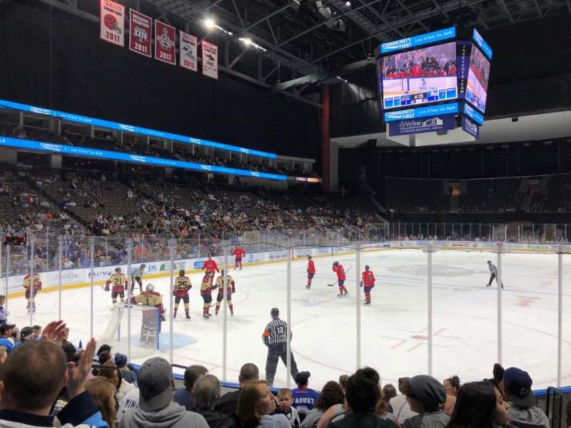 Sitzplatz-Aussicht für VyStar Veterans Memorial Arena Abschnitt 109 Reihe D Platz 10