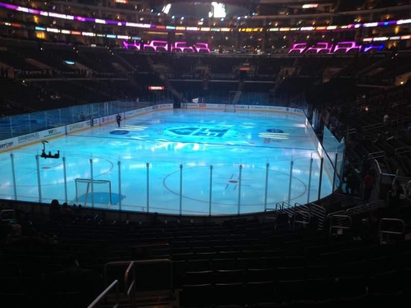 Sitzplatz-Aussicht für Staples Center Abschnitt 106 Reihe 20 Platz 17