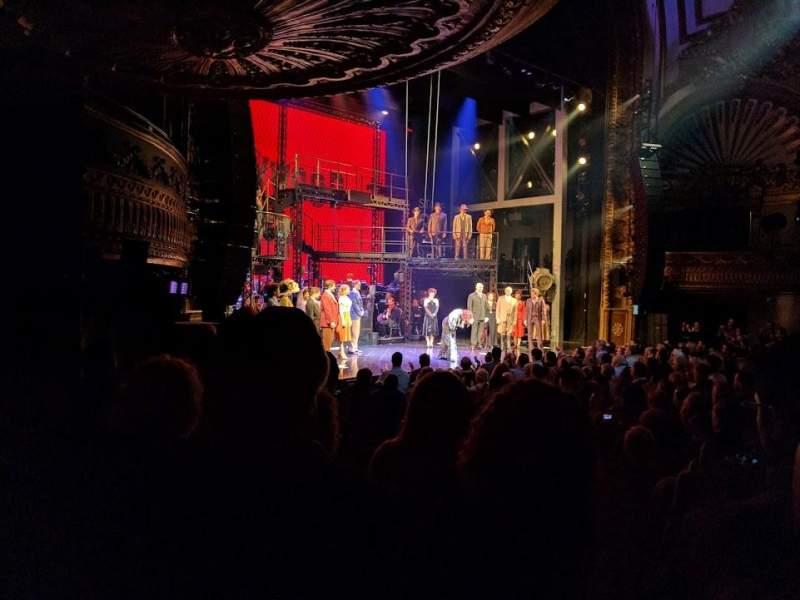 Sitzplatz-Aussicht für Palace Theatre (Broadway) Abschnitt ORCH Reihe M Platz 9