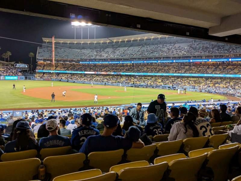 Sitzplatz-Aussicht für Dodger Stadium Abschnitt 31FD Reihe W Platz 7