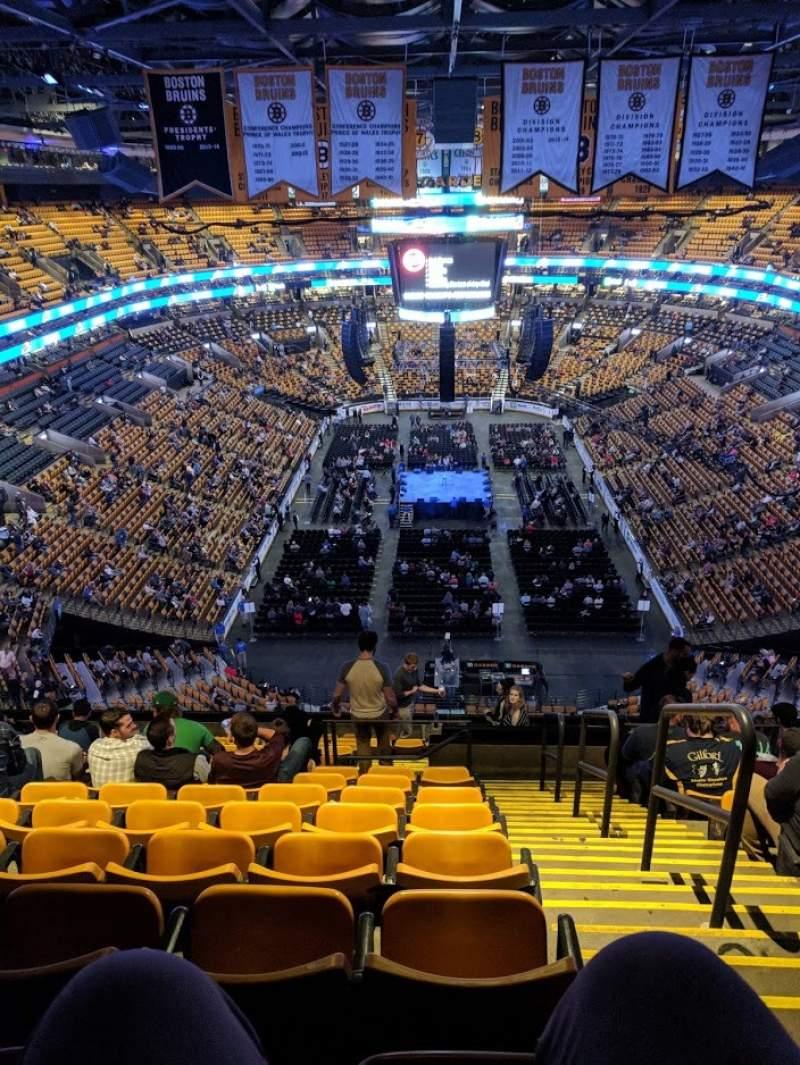 Sitzplatz-Aussicht für TD Garden Abschnitt BAL 324 Reihe 15 Platz 1