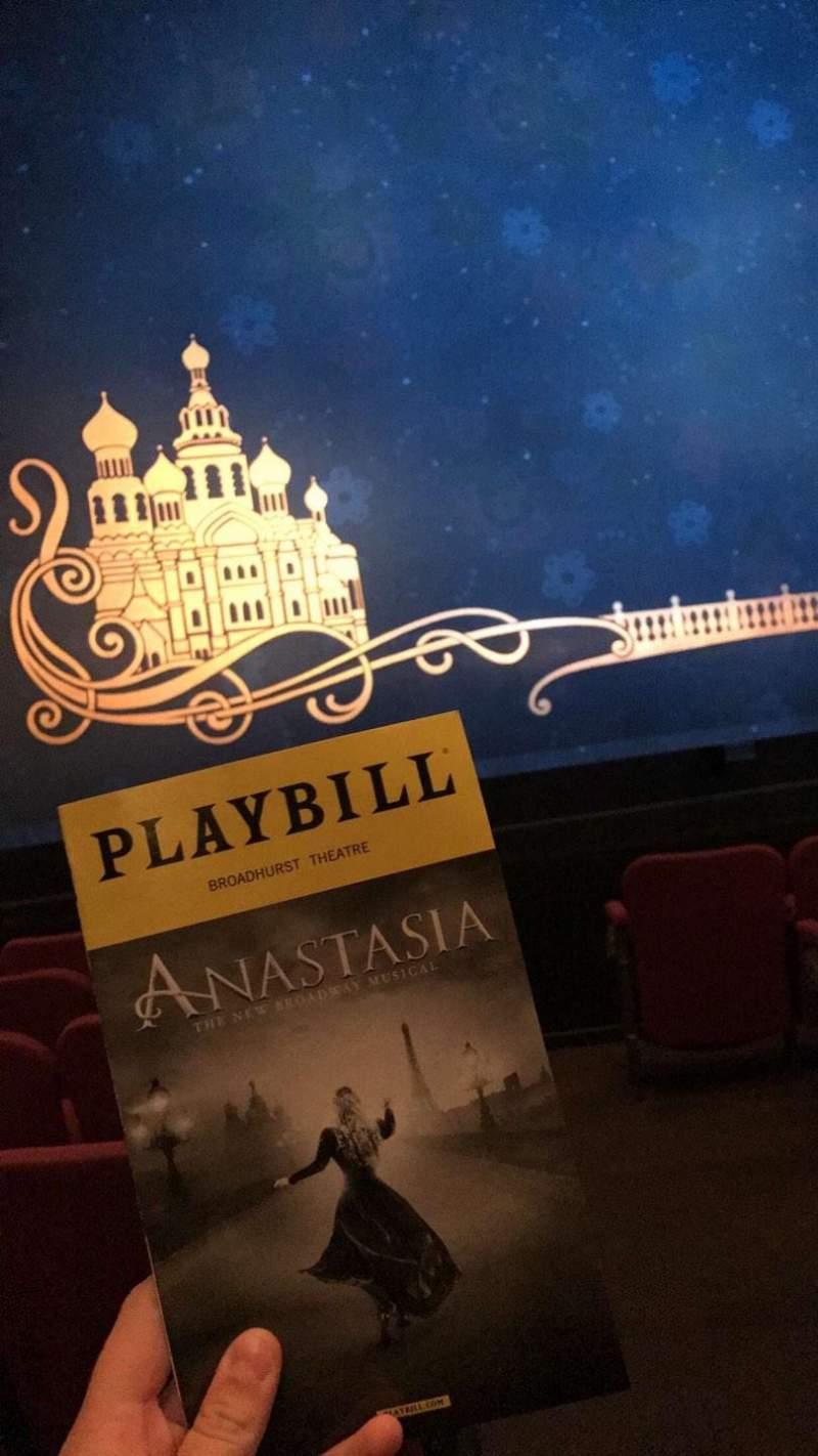 Broadhurst Theatre, Abschnitt: Orchestra Left, Reihe: F, Platz: 1