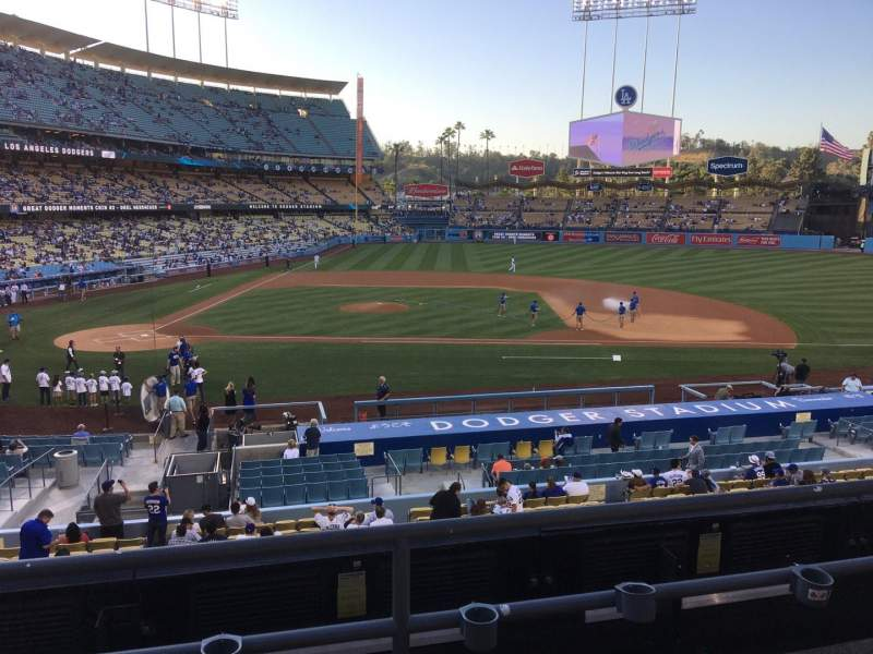 Dodger Stadium, Abschnitt: 128LG, Reihe: C, Platz: 7