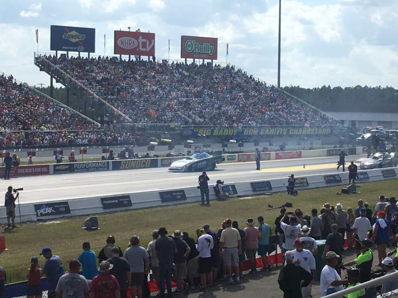 Sitzplatz-Aussicht für Gainesville Raceway Abschnitt GA