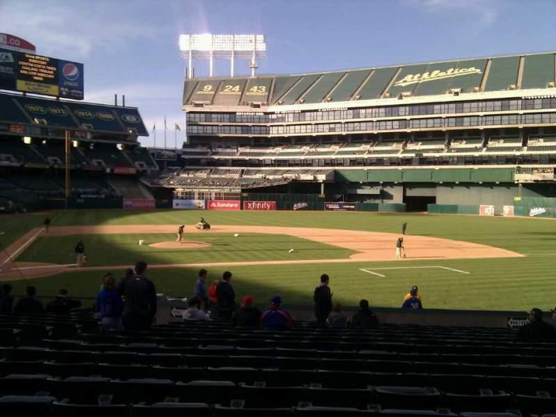 Sitzplatz-Aussicht für Oakland Alameda Coliseum Abschnitt 114 Reihe 18 Platz 16