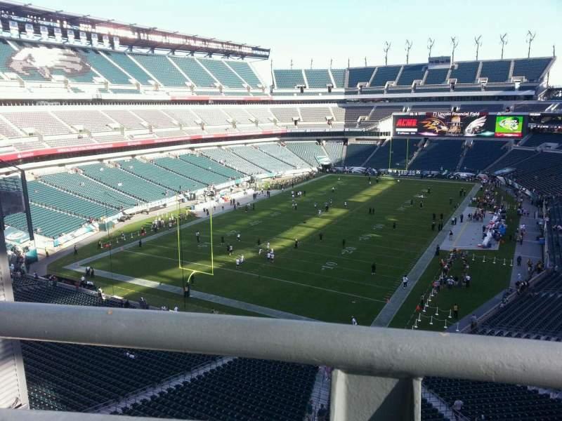 Sitzplatz-Aussicht für Lincoln Financial Field Abschnitt Eagles nest