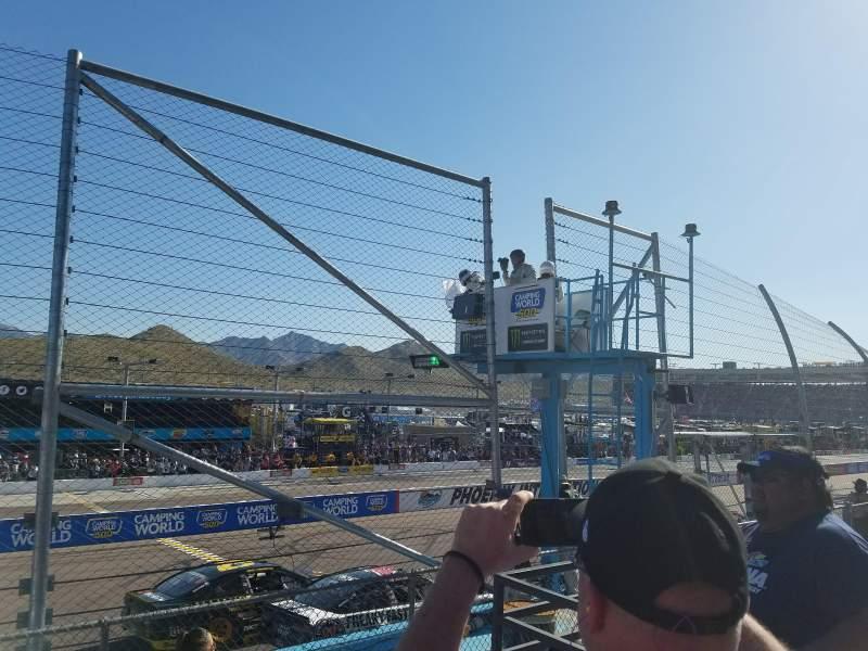 Sitzplatz-Aussicht für Phoenix International Raceway Abschnitt Bryan AA Reihe 2 Platz 6