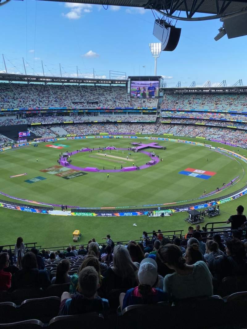 Sitzplatz-Aussicht für Melbourne Cricket Ground Abschnitt Q27 Reihe W Platz 10
