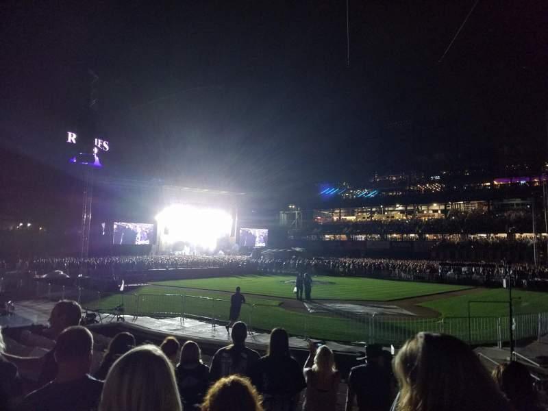 Coors Field, Abschnitt: 132, Reihe: 10, Platz: 1