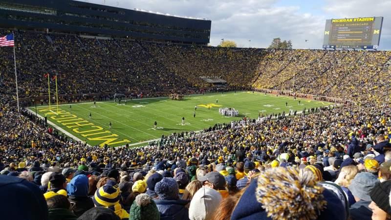 Michigan Stadium, Abschnitt: 7, Reihe: 76, Platz: 34