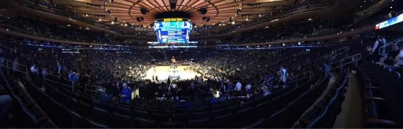 Sitzplatz-Aussicht für Madison Square Garden Abschnitt 112 Reihe 17 Platz 11