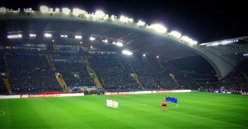 Stadio Friuli, Abschnitt: K2, Reihe: 15, Platz: 22