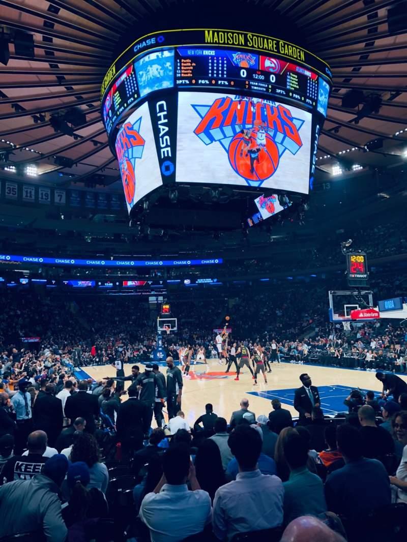 Sitzplatz-Aussicht für Madison Square Garden Abschnitt 7 Reihe 10 Platz 1