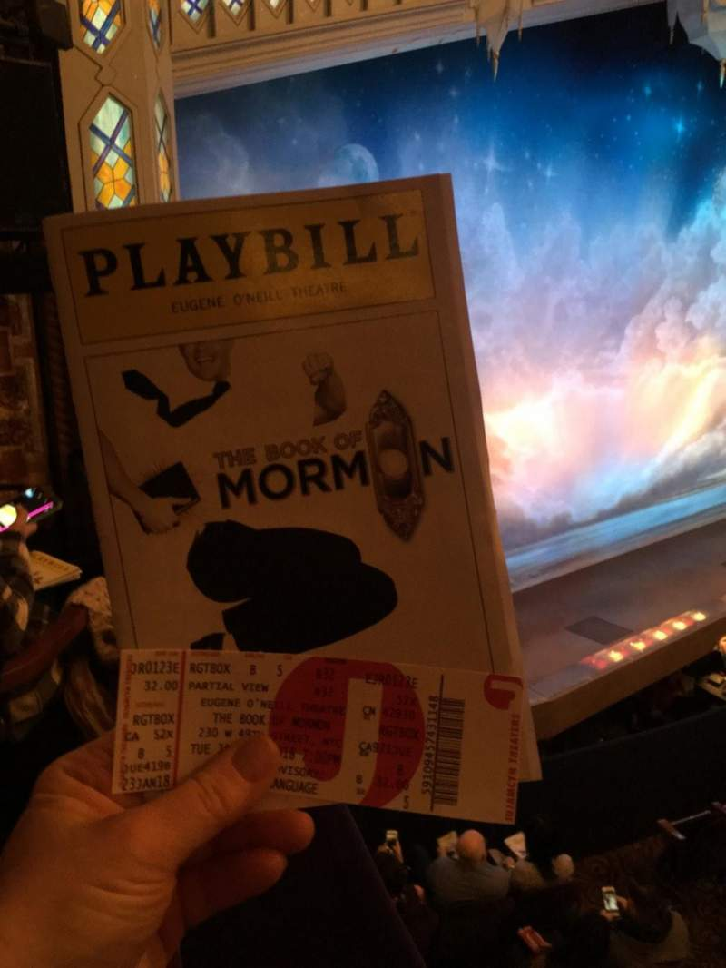 Eugene O'Neill Theatre, Abschnitt: L Box, Reihe: B, Platz: 6
