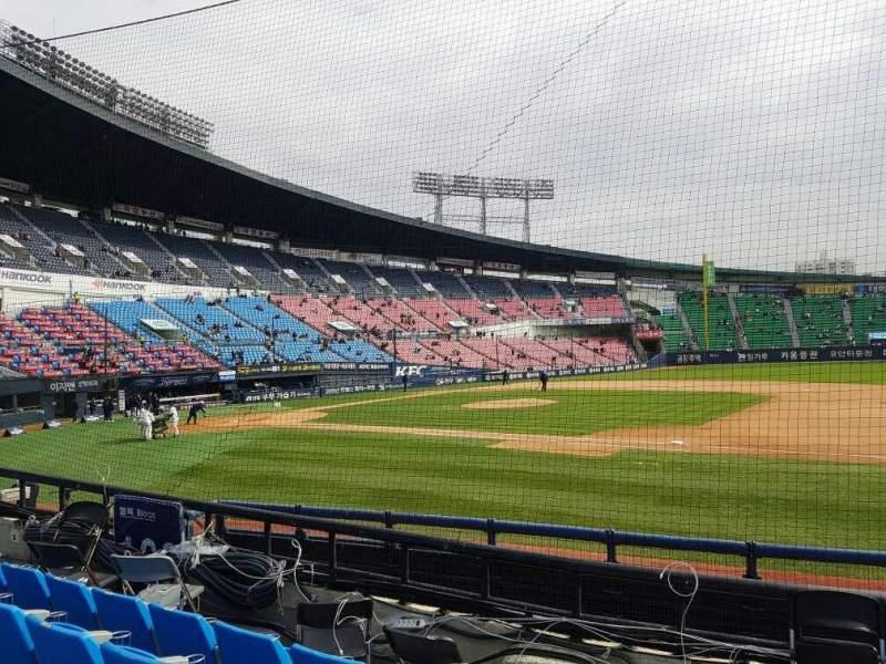 Sitzplatz-Aussicht für Jamsil Baseball Stadium Abschnitt 107 Reihe 5 Platz 73
