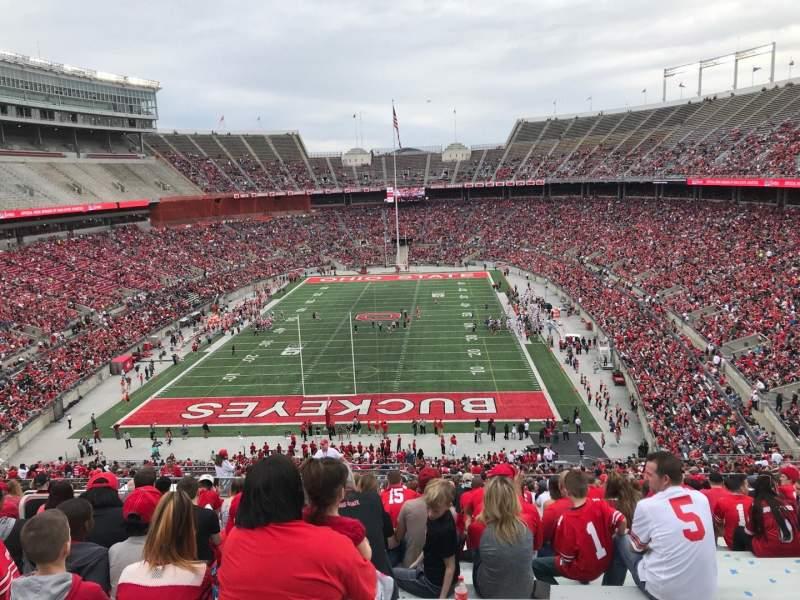 Ohio Stadium, Abschnitt: 38b, Reihe: 27, Platz: 25