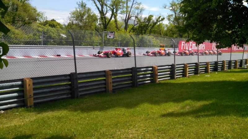 Sitzplatz-Aussicht für Circuit Gilles Villeneuve Abschnitt ga