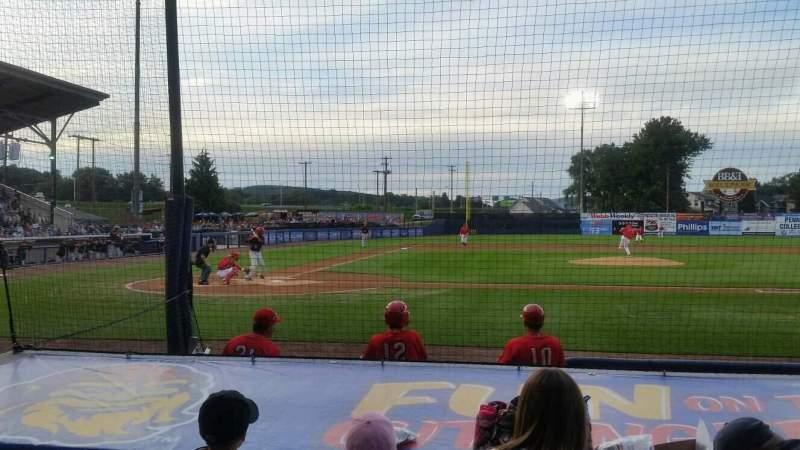 BB&T Ballpark at Historic Bowman Field, Abschnitt: d, Reihe: i, Platz: 3