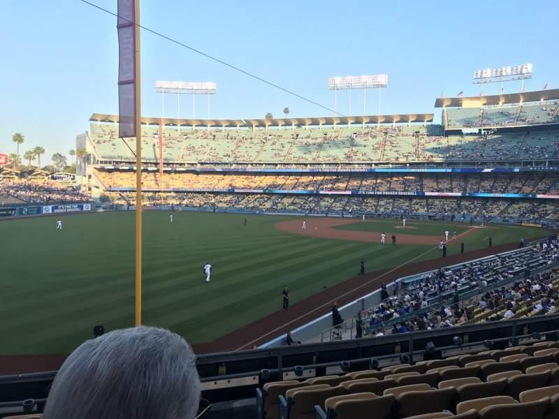 Dodger Stadium, Abschnitt: 163LG, Reihe: G, Platz: 1