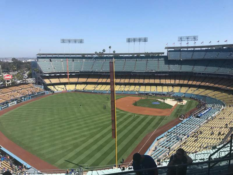 Dodger Stadium, Abschnitt: 57RS, Reihe: EE, Platz: 10