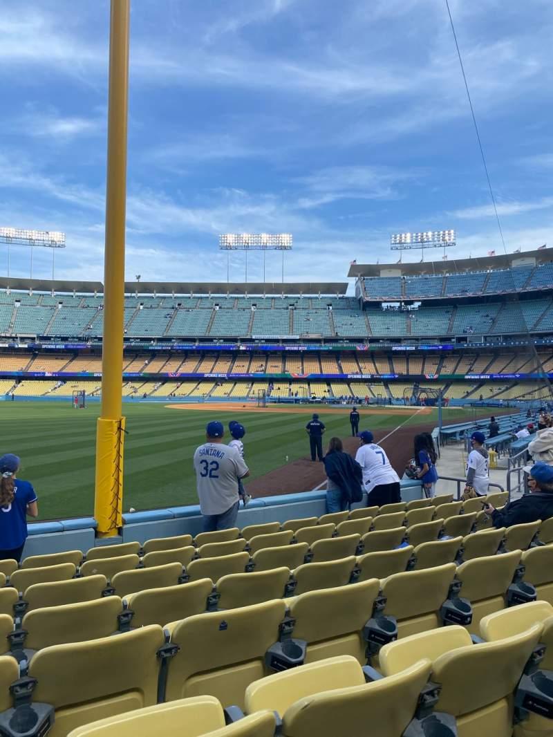 Sitzplatz-Aussicht für Dodger Stadium Bereich 49FD Reihe G Platz 15