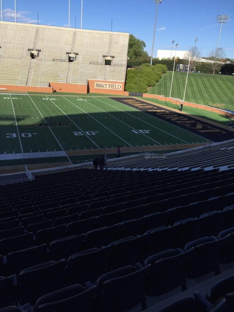 BB&T Field, Abschnitt: 7, Reihe: CC, Platz: 19