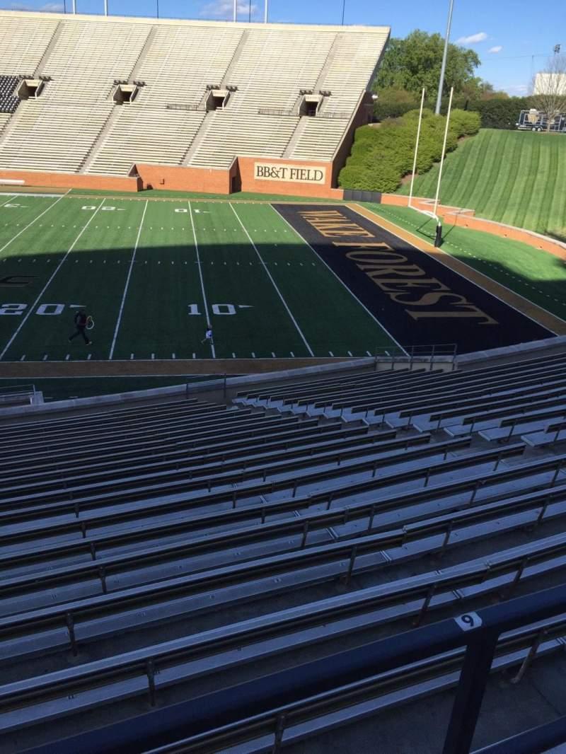 BB&T Field, Abschnitt: 8, Reihe: DD, Platz: Handicapped