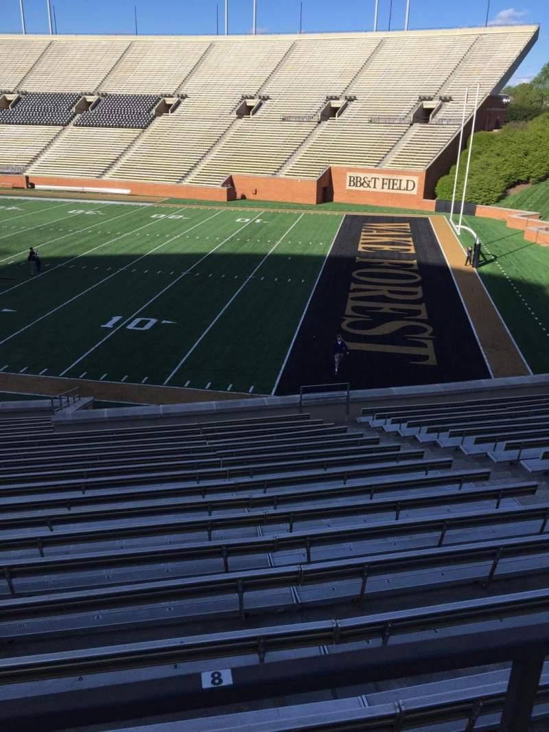 BB&T Field, Abschnitt: 9, Reihe: DD, Platz: Handicapped