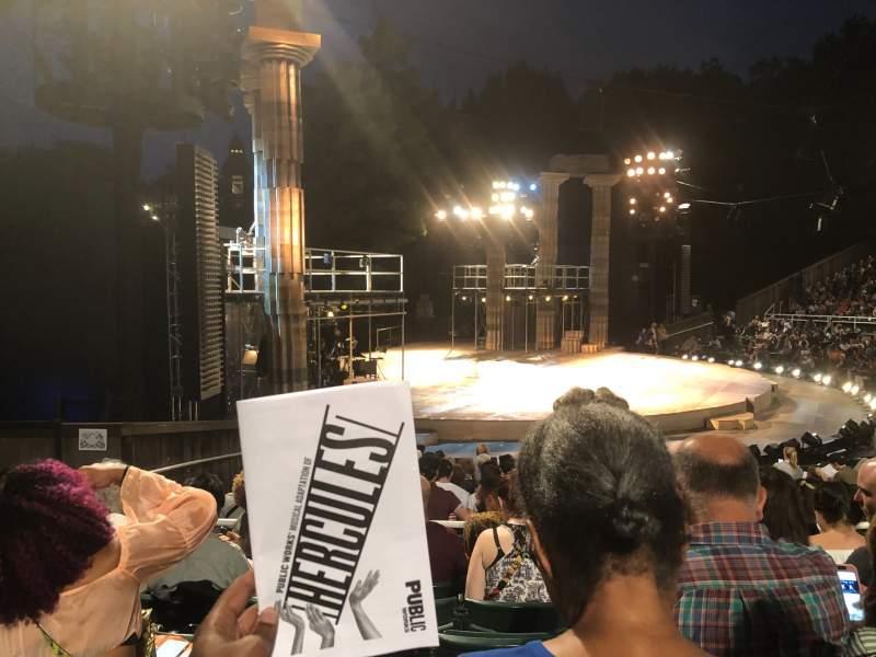 Sitzplatz-Aussicht für The Delacorte Theater in Central Park Abschnitt O Reihe N Platz 511