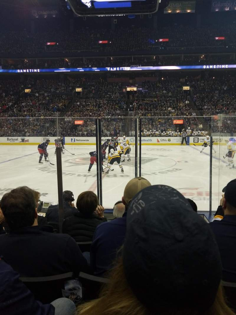 Nationwide Arena, Abschnitt: 114, Reihe: F, Platz: 16