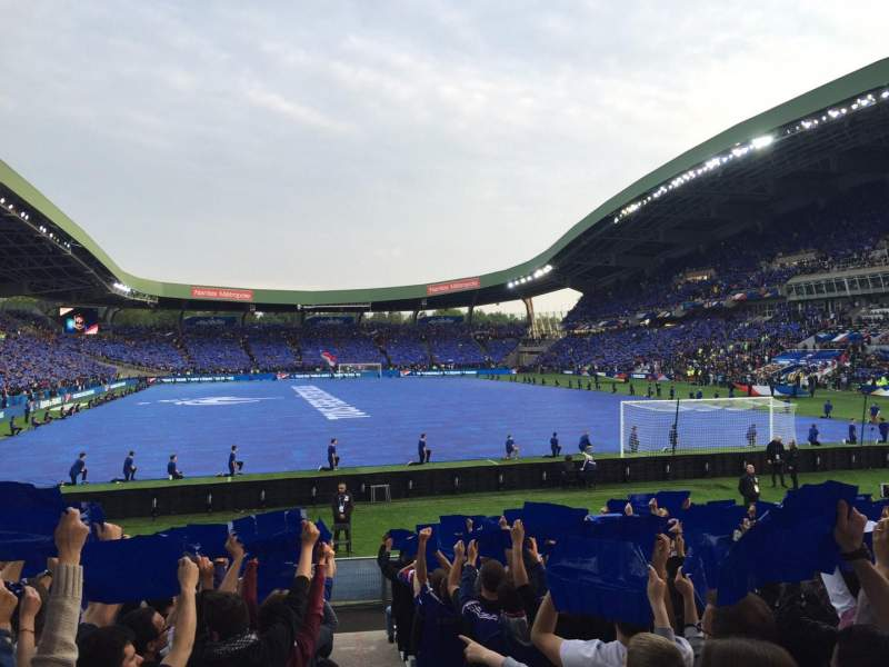 Stade de la Beaujoire, Abschnitt: Erdre, Reihe: E2F-T, Platz: 225